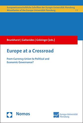 Europe at a Crossroad: From Currency Union to Political and Economic Governance? (Europawissenschaftliche Schriften der Universität Flensburg/European ... of Flensburg Book 1) (English Edition)