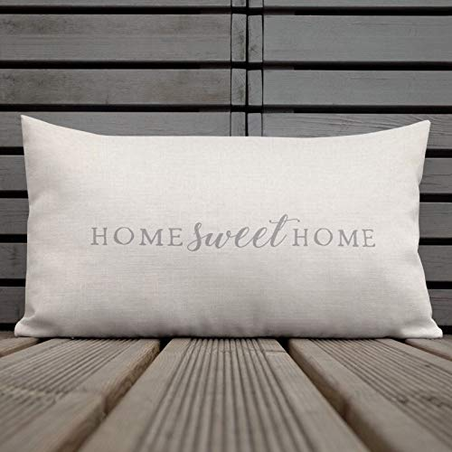 Toll2452 Home Sweet Home - Cuscino decorativo in stile cottage