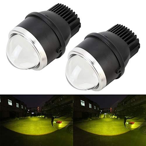 Nebelscheinwerfer 2 PCS IPHCAR MA617 3,0-Zoll-DC12V / 20W / 2200lm Auto Doppel-Licht-Nebel-Licht mit Projektor-Objektiv,StarLightd (Color : Color1)