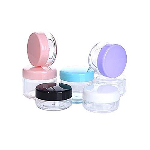 EXQUILEG 12 Stück Cremedosen Nailart Döschen Leerer Kosmetikbehälter mit Deckel,6Farben (10g)