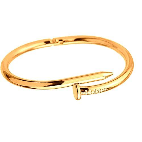 Armband Armband Paar Armband Einstellbare Armband Armband Kreative Einfache Schicke Persönlichkeit Mode Nagel Offen Elegante Mehrfarben Liebe Lustige Geschenke Handgemachte Geschenke, Gold