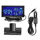 Auto Temperatur Thermometer, Digitale Auto Uhr Auto Thermometer Hygrometer Fahrzeug Voltmeter mit Wettervorhersage