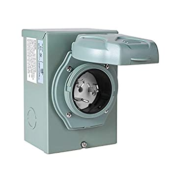 Manshan 50 Amp Generator Power Inlet Box NEMA SS2-50P Power Inlet Box for 3 Prong Generator Cord 125/250 Volt 12500 Watts ETL Listed Weatherproof Outdoor Use