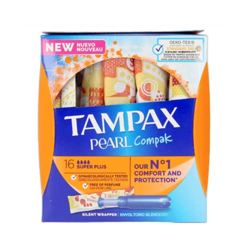 Tampax Compak Pearl Super Plus - Tampones (16 unidades)
