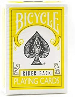 bicycle cards yellow deck
