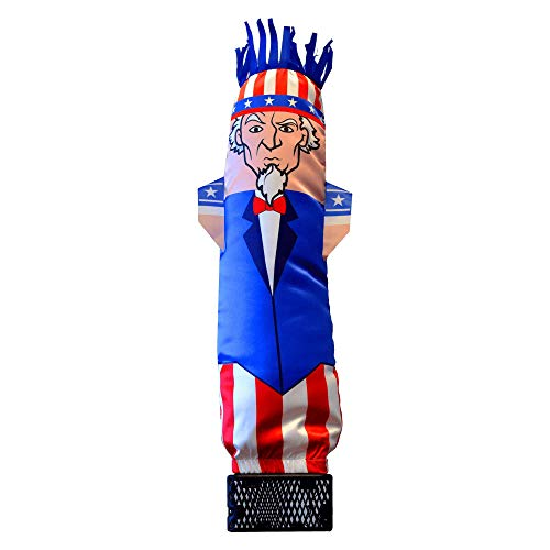 LookOurWay Mini Air Dancers Inflatable Tube Man Set / 29' Waving Inflatable Tube Guy with Blower for Stand Out Advertising (Uncle Sam)