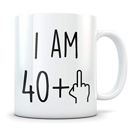 Cukudy - Divertido regalo de cumpleaños 41 para mujeres y hombres con 41 años de edad, taza de café con texto en inglés