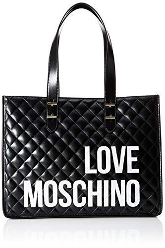 Love Moschino Damen Borsa Quilted Nappa Pu Tragetasche (Tote Bag), Schwarz (Nero), 32x42x16 Centimeters