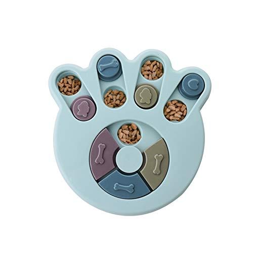 Andiker Hundepuzzle Spielzeug Hunde Lernspielzeug, haltbares interaktives Hund-Spielzeug, Hundehirnspiele, verbessern IQ, 3 Farben (Blau)