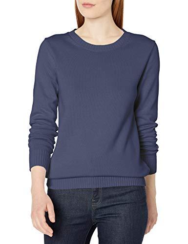 Amazon Essentials 100% Cotton Crewneck Sweater Pullover, Marineblau, L
