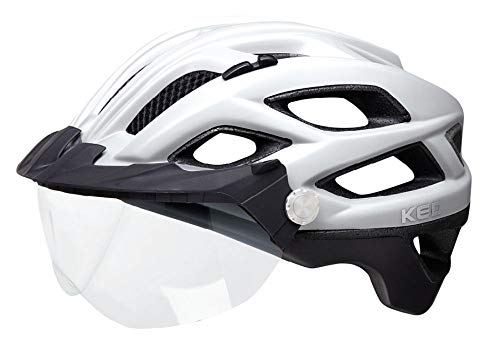 KED Covis Lite L Silver Black matt - 55-61 cm - inkl. RennMaxe Sicherheitsband - Fahrradhelm Skaterhelm MTB BMX Erwachsene Jugendliche