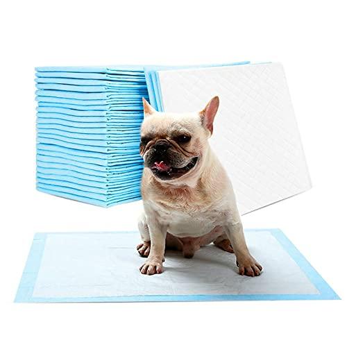 ADL Pastiglie per cani – 50 pezzi, blu e bianco, 60 x 45 cm, a prova di perdite, super assorbenti, per addestramento igienico, per cani, gatti, cuccioli, cuccioli, cuccioli, cuccioli di pipì