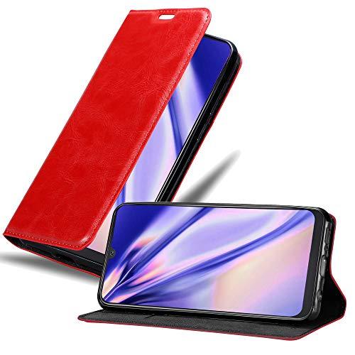 Cadorabo Funda Libro para Samsung Galaxy A50 en Rojo Manzana - Cubierta Proteccíon con Cierre Magnético, Tarjetero y Función de Suporte - Etui Case Cover Carcasa