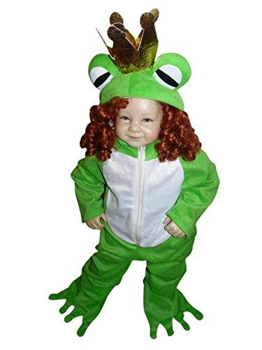 Froschkönig-Kostüm, Sy12 Gr. 80-86, für Klein-Kinder, Babies, Frosch-König Kostüme Fasching Karneval, Kleinkinder-Karnevalskostüme, Kinder-Faschingskostüme, Märchen-Kostüm