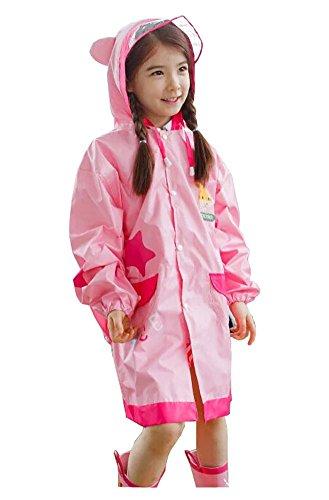 Korean Lovely bébé imperméable Mode enfants pluie Rose Girafe S
