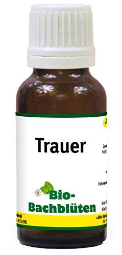 cdVet Naturprodukte Bio-Bachblüten Trauer 20 ml - Hund, Katze Pferd - Angst bei Einsamkeit+Uhruhe+Wimmern+Bellen+Fiepslaute - ohne Alkohol+Zucker - Bio-zertifiziert - Nachtkerzenöl -