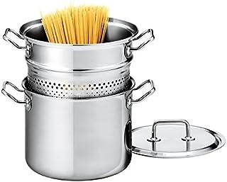 Spring 0415630622 Brigade Premium Pasta-set, roestvrij staal, zilver, 27,8 x 28,4 x 30,4 cm