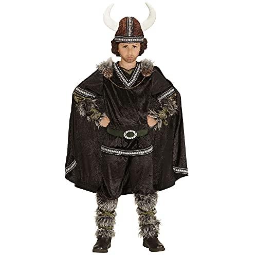 WIDMANN 05987Infantil Disfraz Vikingo, Superior, Pantalones, cinturón, Mangas, Pierna Sirven, Capa y Casco
