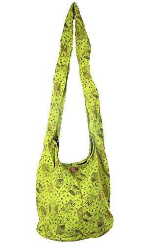 made in zen 1 - Bolso cruzados para mujer Verde verde 80 X 35 cm