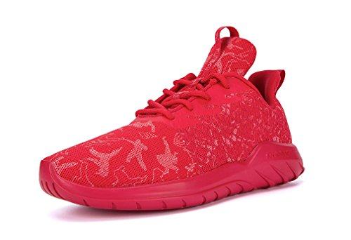 Zapatillas deportivas unisex de malla para correr con estampado de los Juegos Olímpicos, color Rojo, talla 40 2/3 EU