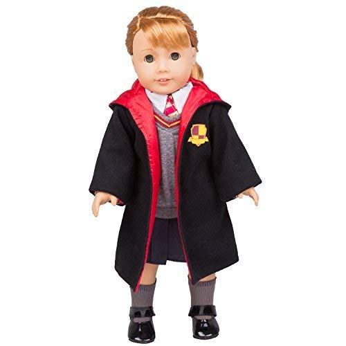 Dress Along Dolly Hermione Granger Inspired Doll Clothes for American Girl & 18