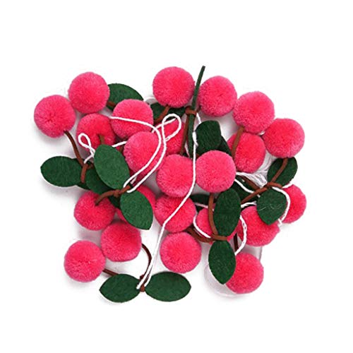 S-TROUBLE Bayberry Felt Ball Handmade Garland String Hanging Ornaments Hair Ball Wall Hanging Pendant Kids Room Decoration
