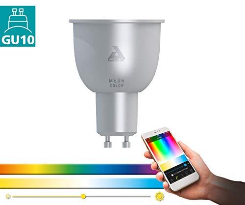 EGLO connect LED GU10 Lampe, Smart Home Glühbirne, 5 Watt (entspricht 29 Watt), 400 Lumen, GU10 LED dimmbar, Farbtemperatur und RGB Farben einstellbar, LED Leuchtmittel, LED Spot Ø 6 cm