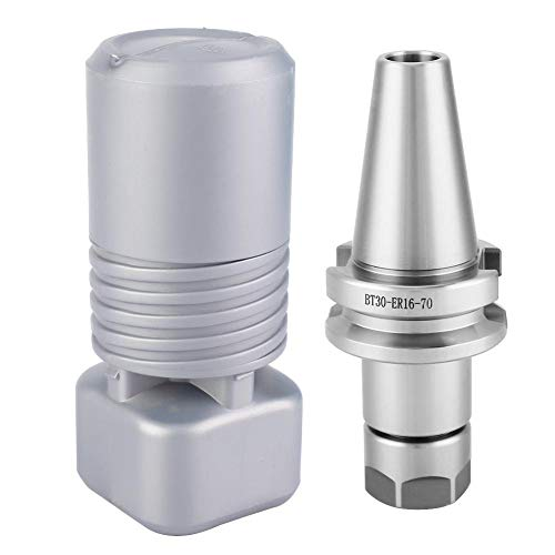 %9 OFF! BT30 ER16 70 Mill Tool Holder, High Speed Collet Chuck Holder 10000rpm 20CRMnTi Steel CNC Mi...
