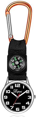 Reloj de Bolsillo de la brújula de Naranja Reloj de Bolsillo de la brújula única del Bolsillo de Nylon Pulsera del Colgante Regalos para Hombres para Hombres Boys Gift Amazing