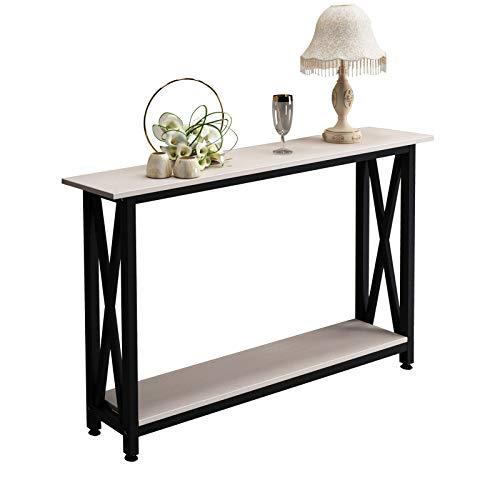 SogesPower DX-125 - Tavolo consolle per corridoio, con mensola, per soggiorno, camera da letto, scrivania, in legno, per soggiorno, camera da letto, corridoio,