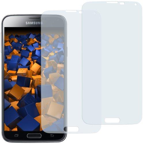 mumbi Schutzfolie kompatibel mit Samsung Galaxy S5 Folie, Galaxy S5 Neo Folie klar, Displayschutzfolie (2X)