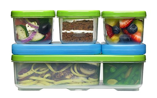 Rubbermaid LunchBlox Kids Lunch Box Entrée Kit, Green