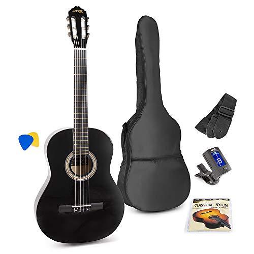 MAX SoloArt Conjunto Guitarra Clásica (Negro)