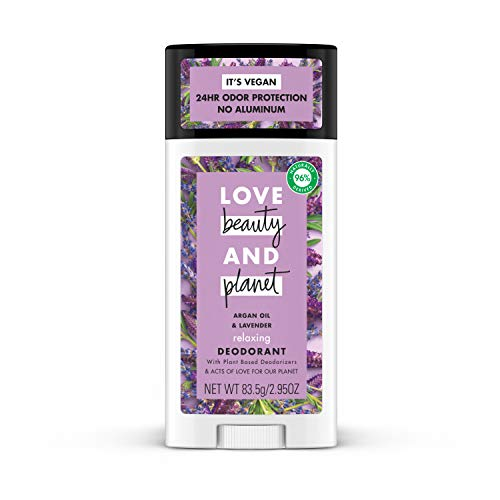 Love Beauty And Planet Deodorant  Argan Oil and Lavender  2.95 Oz