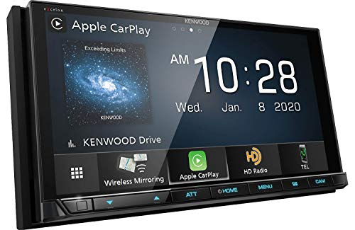 """Kenwood Excelon DMX957XR 6.8"""" Capacitive Touch Panel Digital multimedia receiver with Bluetooth & HD Radio (does not play CDs) 