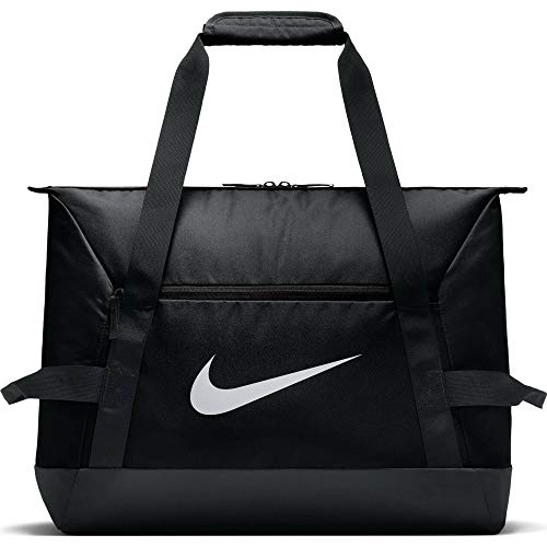 Nike NK ACDMY Team S DUFF Gym Duffel Bag, Black/Black/White, MISC