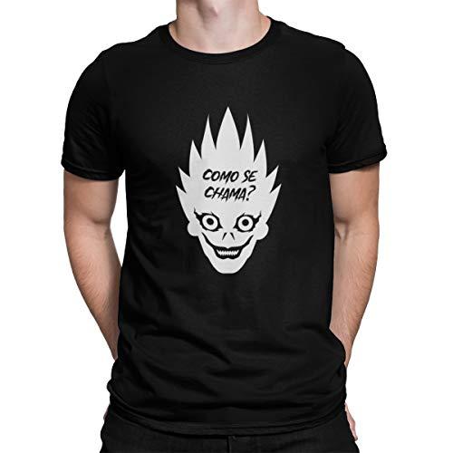 Camiseta Camisa Death Note Masculino Preto Tamanho:M