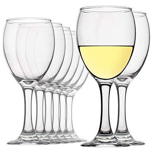 Bicchieri da vino da 12 once, set da 8, bicchieri da vino rosso e bianco con gambo senza piombo, trasparenti