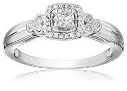 10k White Gold Diamond Engagement Ring by Finecraft