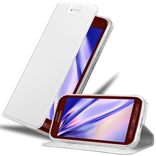 Cadorabo Custodia Libro per Samsung Galaxy S5 Active in CLASSY ARGENTO – con Vani di Carte, Funzione Stand e Chiusura Magnetica – Portafoglio Cover Case Wallet Book Etui Protezione