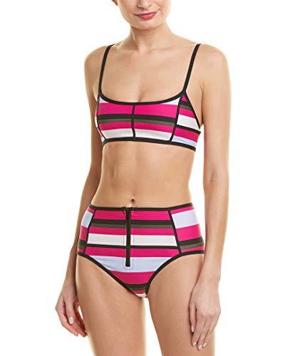Proenza Schouler Womens 2Pc Sporty Bikini Set, Xs, Pink