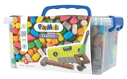 cassetta attrezzi 500 pezzi PlayMais Collector Cassetta Attrezzi Kit per Bambini dai 3 Anni in su | Giocattolo per attività motorie con 500 Pezzi e Istruzioni | Giocattoli Naturali | Promuove la creatività e l'abilità motoria