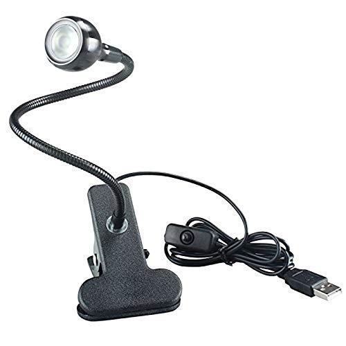 Yuxahiugtd Escritorio LED USB Clip lámpara de Lectura en el Estudio de la Cama Mesa de iluminación