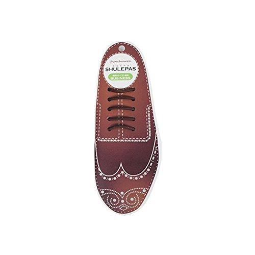 [フランシュエット] 結ばない靴紐 SHULEPAS シュレパス ビジネス用 ビジネスシューズ ゴム シリコン 伸びる 革靴 靴ひも ブーツ シリコン 伸縮性 (Brown)