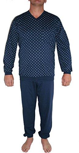 Seidensticker Herren Anzug Lang Zweiteiliger Schlafanzug, Blau (dunkelblau 803), X-Large (Herstellergröße: 054)