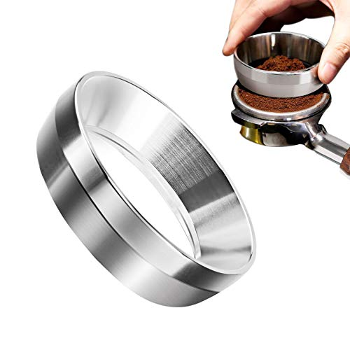 58mm Espresso Dosing Funnel, 58mm Stainless Steel Coffee Dosing Ring, 58mm Portafilter Dosing Funnel, Compatible with 58mm Breville Portafilter for Home Cafe Use