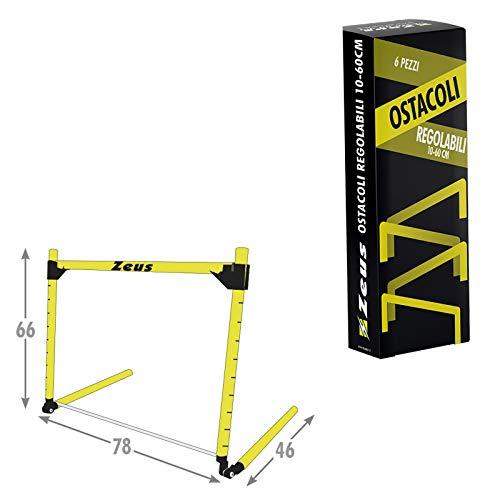 Zeus Packung mit 6 Stück Ostergarnitur 10/60 cm aus PVC Running Corsa ALCIO Palestra Sport GELB ROT