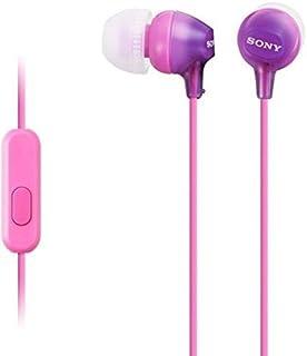 Sony MDREX15AP In-Ear Earbud Headphones with Mic, Violet