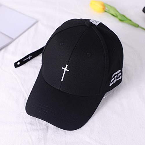 FORBQM Gorra de béisbol Gorra De Béisbol con Bordado Cruzado Simple Hip Hop Streetwear Sombrero Blanco Negro Visera Al Aire Libre Sombreros para El Sol Gorros De Papá De Algodón Unisex