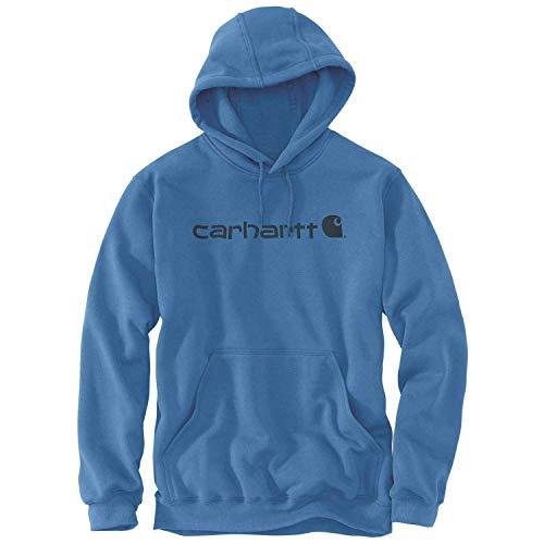 Carhartt Signature Logo Midweight Hoodie Capuche Bleu électrique XXL